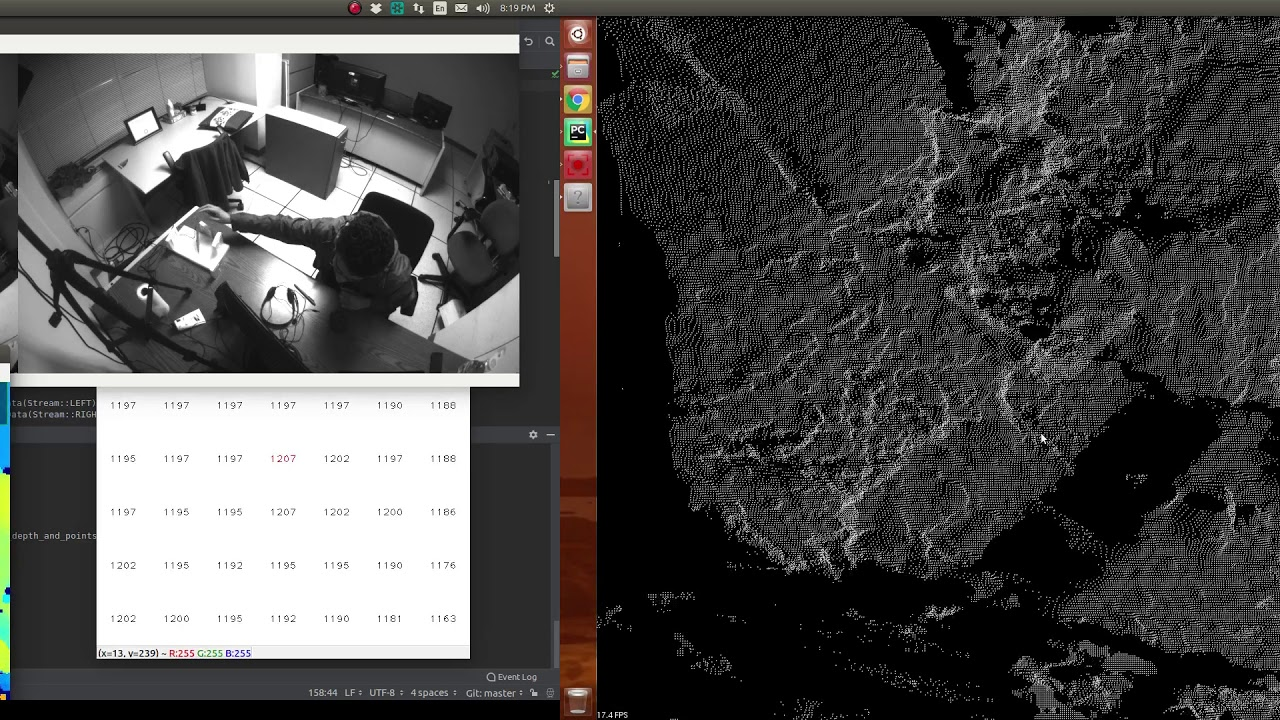 Effect of Lighting on Depth-Map & Point-Cloud of MYNT S1030 with IR set to 0