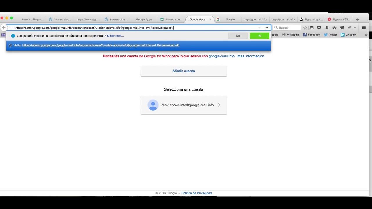 Google evil link file download and redirect script