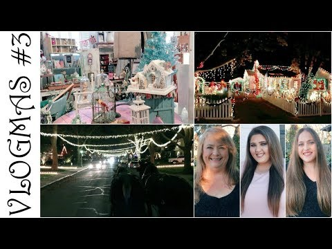VLOGMAS #3 ♡ Horse Ride FAB 40's Christmas Lights, Antique Christmas Shopping, Decorating & Haircuts