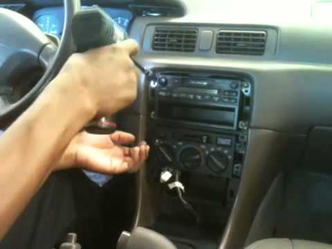 How to remove 1999 toyota radio youtube on 1997 toyota camry audio wiring 2010 Toyota Camry 1997 Camry Le