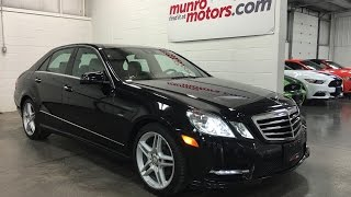 2012 Mercedes-Benz  SOLD E-Class E350 4MATIC Obsidain/Tan Navigation Panoramic Munro Motors