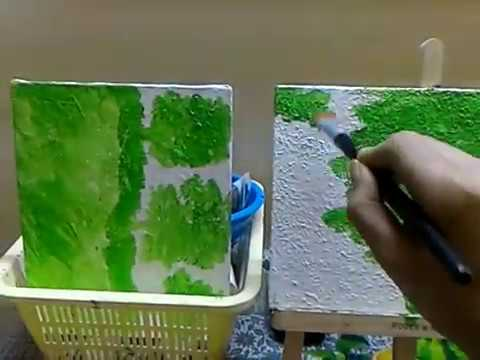 Trees Painting Landscape Modern