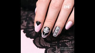 Master Class on nail design. Lace nails.