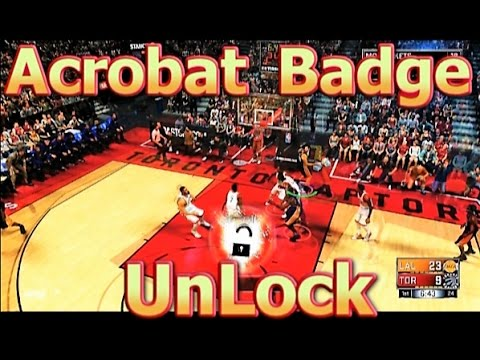 NBA 2K17 Tutorial How To Get Acrobat Badge Easy Unlock For | ALL POSITIONS✔