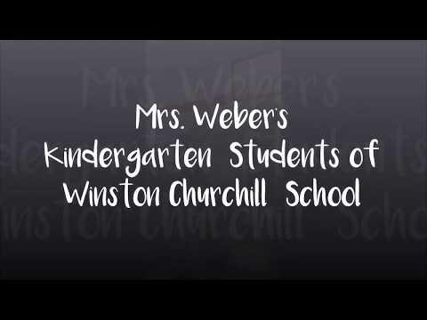 Mrs Weber's Kindergarten students of Winston Churchill School