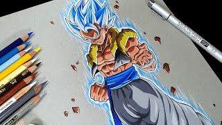 Anime Art - Drawing GOGETA Ssj Blue | DBS Broly