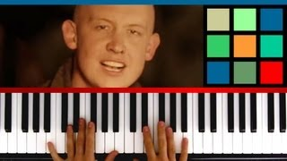 """How To Play """"Never Say Never"""" Piano Tutorial / Sheet Music (The Fray)"""