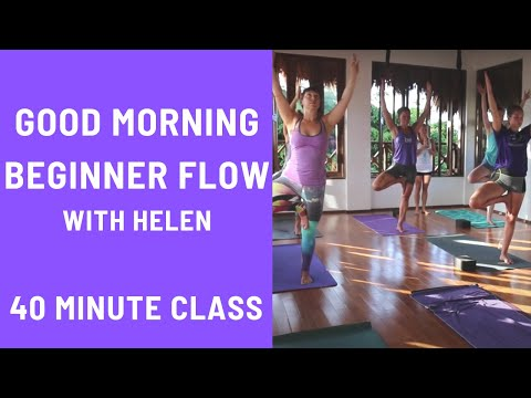 40 Minute Yoga Class - Good Morning Flow Beginner Friendly Vinyasa