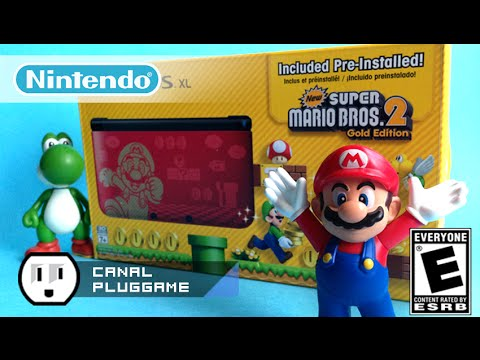 Unboxing Setup Nintendo 3ds Xl Super Mario Bros 2 Golden
