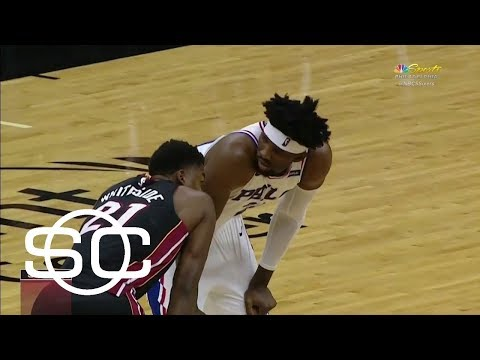Beef between Joel Embiid and Hassan Whiteside goes from court to social media | SportsCenter | ESPN