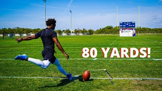 THE LONGEST FIELD GOAL I'VE EVER KICKED!! (80 YARDS)