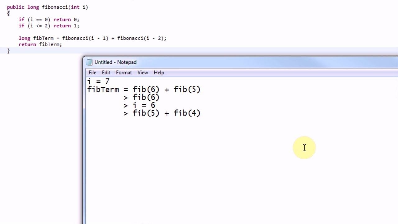 Learning Java Part 24 Recursion and the Fibonacci Sequence YouTube – Fibonacci Sequence Worksheet