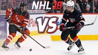 WHO WINS TODAY? CANADA vs USA | WORLD JUNIORS 2015 REMATCH - NHL 18