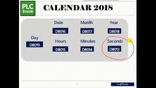 การใช้งาน Data Register RTC   Date time PLC Mitsubishi   และทดลองโดย HMI
