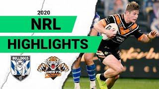 Bulldogs v Wests Tigers Match Highlights | Round 7 2020 | Telstra Premiership | NRL