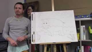 How to draw a hippo for kids with Ramon Carrasco