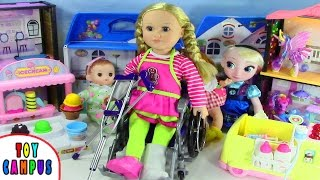 Doctor, I Sprained My Ankle and Wrist. I Need Cast, Clutches and Wheelchair | ToyCampus