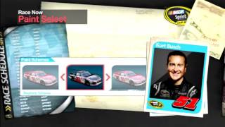NASCAR The Game Inside Line Drivers and Paint Schemes