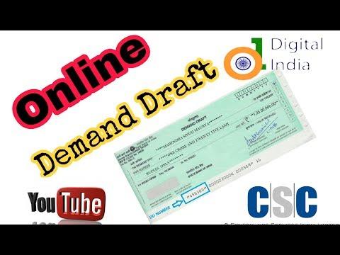 How to make online demand draft , onlin dd
