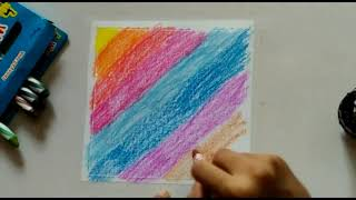 How to make easy crayon painting | colourful scratch art