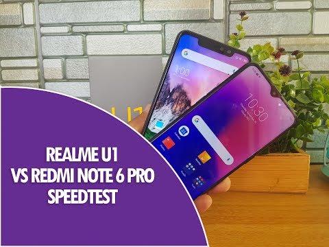 Realme U1 vs Xiaomi Redmi Note 6 Pro Speedtest Comparison- Helio P70 vs SD636