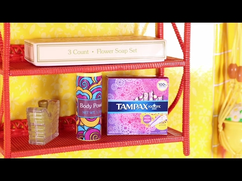 DIY Doll Tampons & Pads | How to make American Girl Doll Tampons & Pads