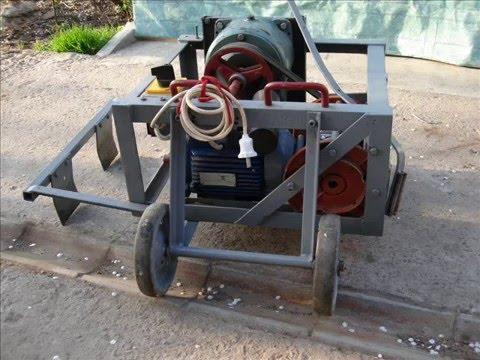 Самодельная электро лебедка из трещотки для хозяйства