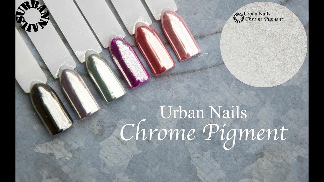Urban Nails Chrome Pigment - YouTube