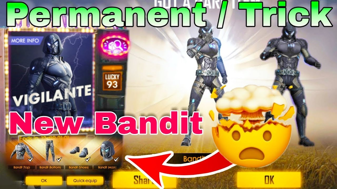 New Bandit Bundle [Permanent Trick] Diamond Royale – Garena