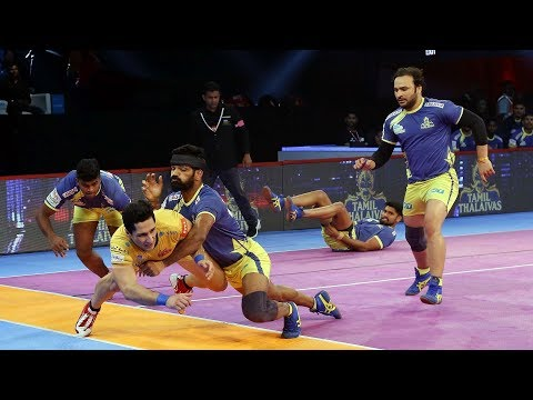 Pro Kabaddi 2018 Highlights | Tamil Thalaivas vs Telugu Titans | Hindi