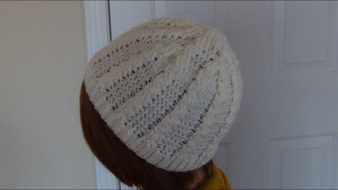 Crocheted Cable Hat/Beanie - YouTube