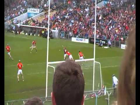 Conor Whelan scores a point for Galway v Cork