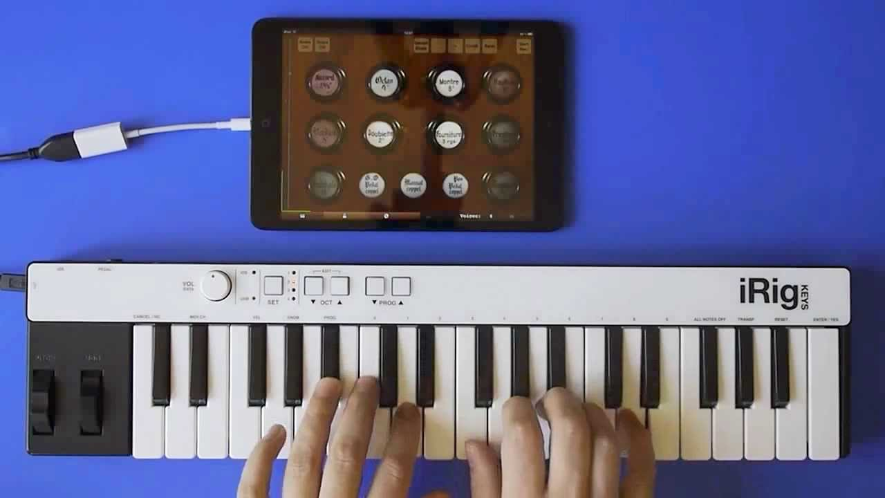 jeux d 39 orgues mini app on ipad with a small midi keyboard youtube. Black Bedroom Furniture Sets. Home Design Ideas