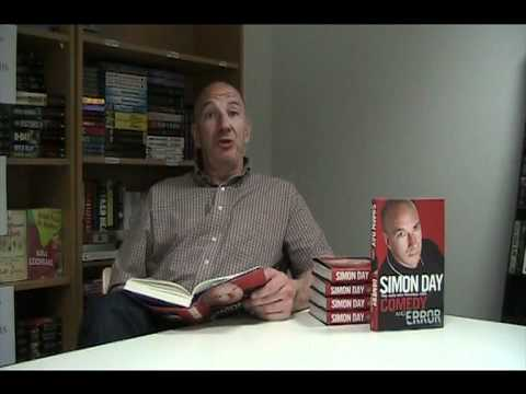 Simon Day reads out an extract from Comedy and Error
