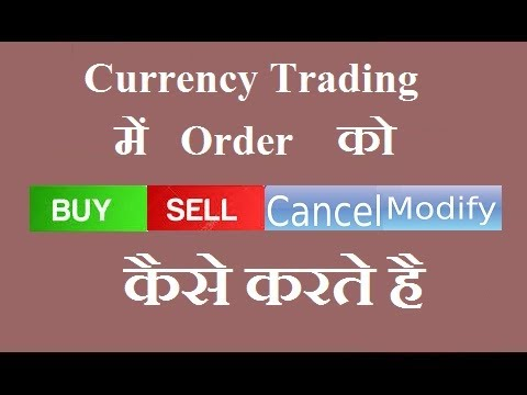 How to Buy/Sell Modify/Cancel Order in Currency Trading [HINDI] [TOP RATED]