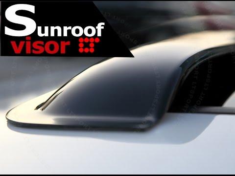 Sunroof Visor Moonroof Deflector Installation Guide by LT Sport