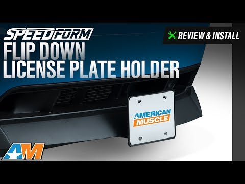 1979-2017 Mustang SpeedForm Flip Down License Plate Holder Review & Install