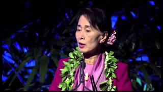 Aung San Suu Kyi speaks to Hawaii students