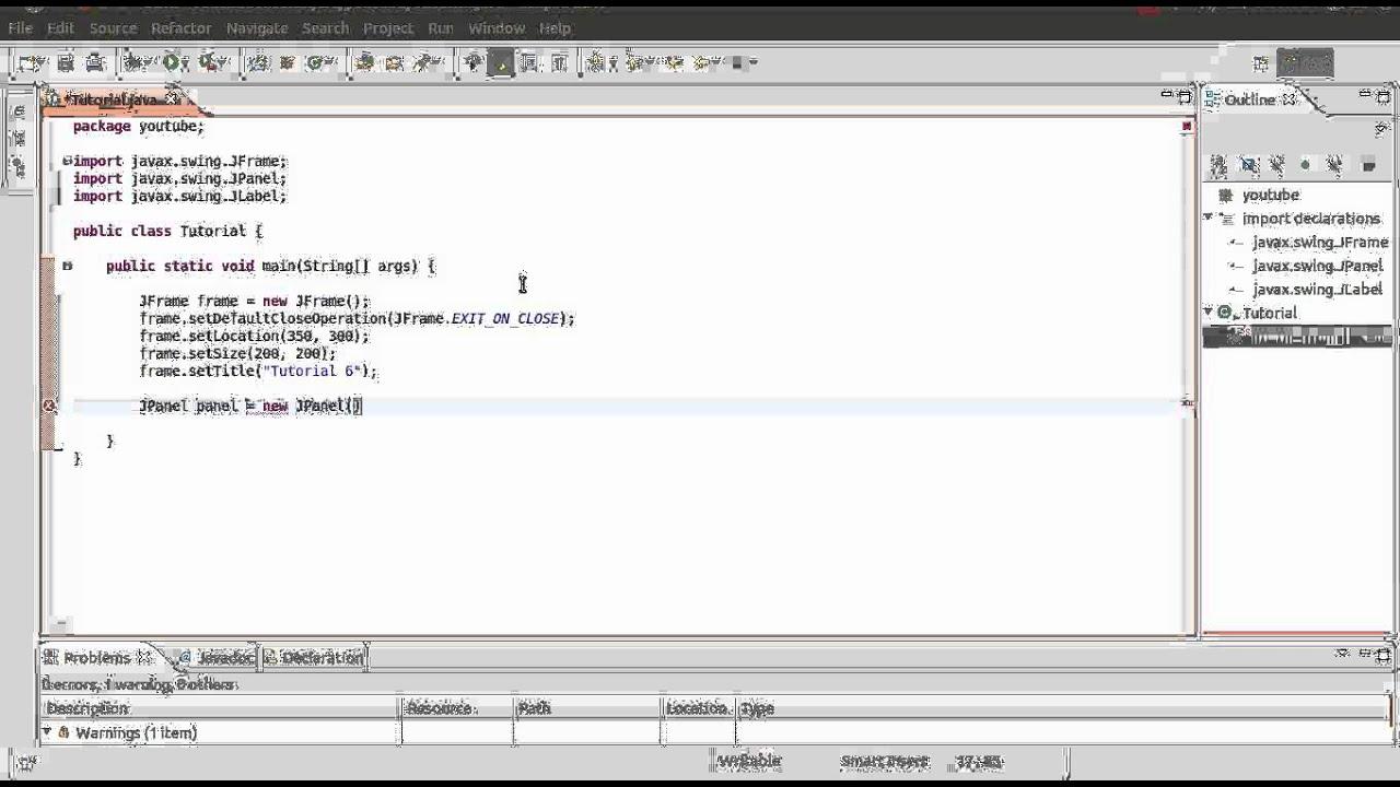 Java gui programming tutorial 6 jpanel hd youtube java gui programming tutorial 6 jpanel hd baditri Choice Image