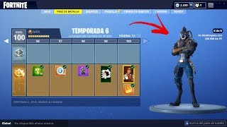 **BATTLE PASS 6** SKIN LEVEL 100! ALL UNLOCKED - Fortnite: Battle Royale