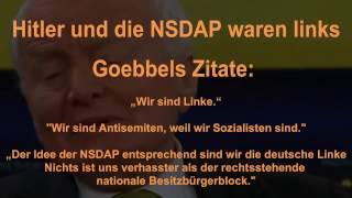 Hitler und die NSDAP waren Linke (National-SOZIALISTEN)