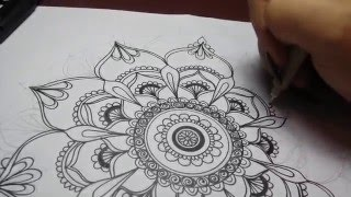 mandala easy drawing designs drawings projects patterns doodle getdrawings zentangle