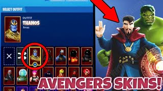 NEW FORTNITE LEAKED AVENGERS SKINS! NEW FORTNITE AVENGERS ENDGAME THOR AND SPIDER MAN SKINS!