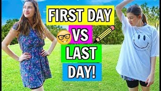 First Day of School VS. Last Day of School! 2018!