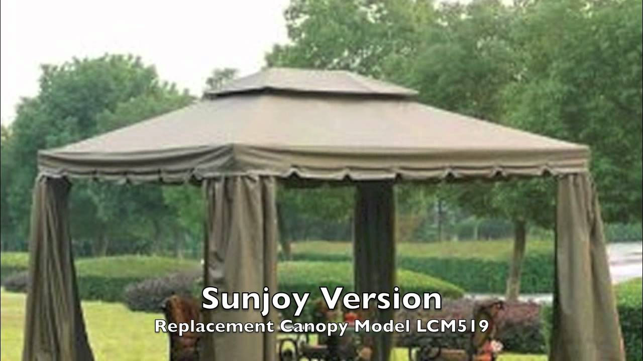 & BJs 10x12 Gazebo Canopy for Sunjoy and Bond versions - YouTube