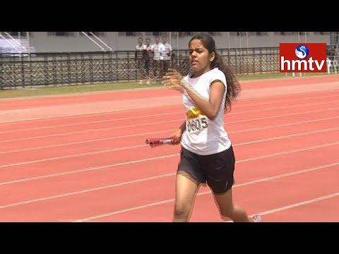 CBSE Cluster 2017 Athletic Meet | 3rd Day Highlights | Hyderabad | HMTV