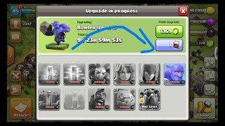 Clash of Clans Book of fighting Bowler update 1 second