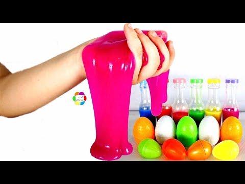 لعبة سلايم بيض المفاجآت الجديدة للاطفال اجمل العاب طبخ السلايم الحقيقى والصلصال والرمل السحرى للبنات