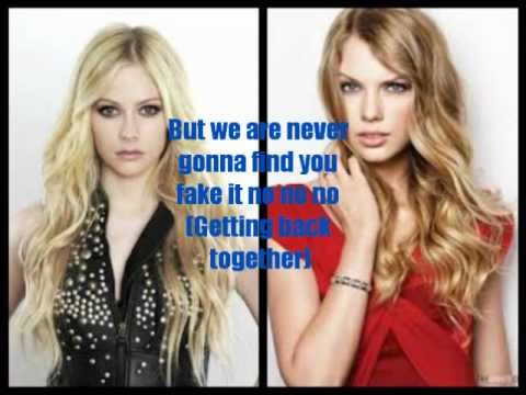 We Are Complicated Avril Lavigne/Taylor Swift (Mash up) lyrics