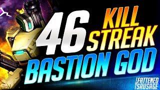 BASTION GOD Gets INSANE 46 Killstreak! 𝗚𝗘𝗧𝗦 𝗖𝗔𝗟𝗟𝗘𝗗 𝗛𝗔𝗖𝗞𝗘𝗥! | Overwatch
